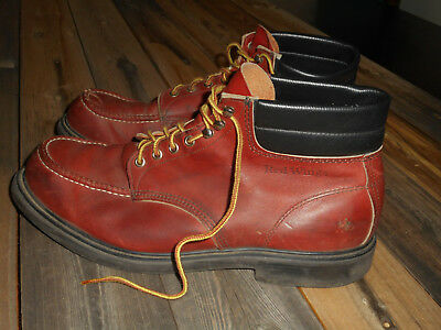 red wing boots 8822 brown leather lace up ankle work fashion sz 8 d