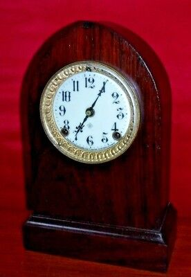 Antique Ansonia Henley Cabinet 8 Day Gothic Style Mantle Chime Clock Working N.y