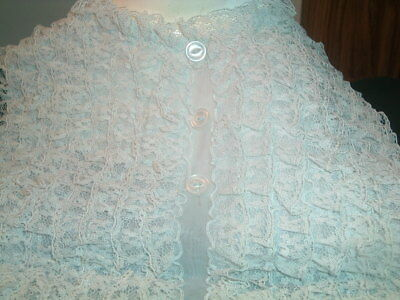 Antique Blue Lace Dicky Or  Blouse Front New