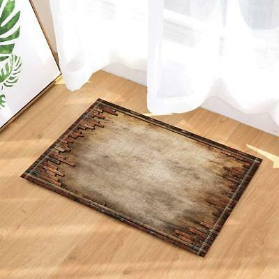 Old Broken Stone Brick Wall Bath Rugs for Bathroom Non-Slip Floor Door Mat New