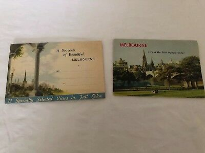 Vintage Melbourne Fold Out Postcard Photographic Booklet