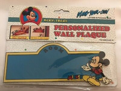 Walt Disney Mickey Mouse & Friends Make Your Own Personalized Wall Plaque Sign
