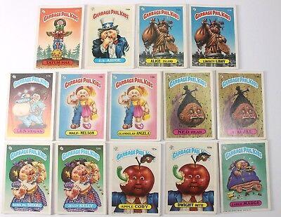 Garbage Pail Kids Cards Original Series 3 Lot of 14 No Doubles Fair To Good 107b