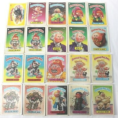 Garbage Pail Kids Cards Original Series  2 Lot of 20 No Doubles Fair To Good 66b