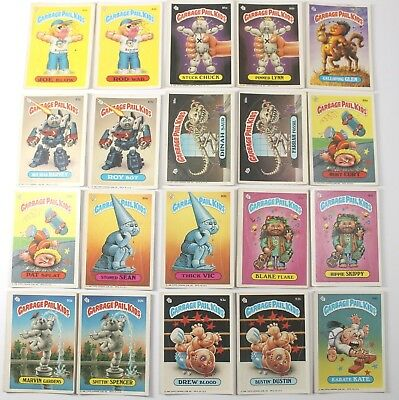 Garbage Pail Kids Cards Original Series 3 Lot of 20 No Doubles Fair To Good  84a