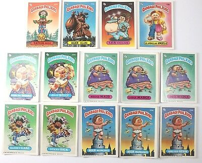 Garbage Pail Kids Cards Original Series 3 Lot of 14 Fair To Good Condition 113a