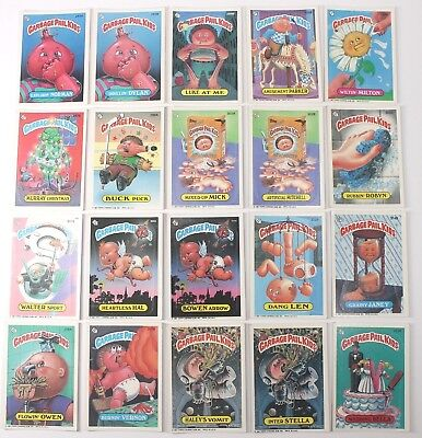Garbage Pail Kids Cards Original Series 8 Lot of 20 No Doubles Fair To Good  93a