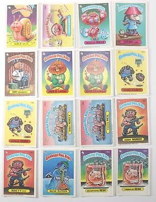Garbage Pail Kids Cards Original Series 4 Lot of 16 No Doubles Fair To Good 145a