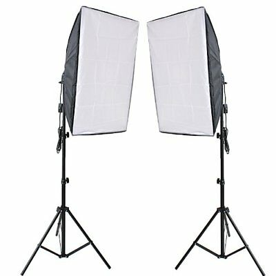 Photography Softbox Studio Continuous Lighting Kit With 2x80w 5500k Bulbs 50 X70