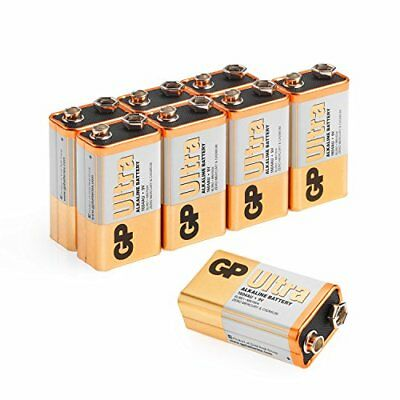9v Battery pp3, 6lr61, Mn1604, E-block, 9 Volt Pack Of 8 | Ultra Alkaline Bybatt