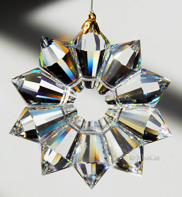 Handcrafted 52mm Austrian Crystal Clear 2 inch Star Prism SunCatcher Ornament