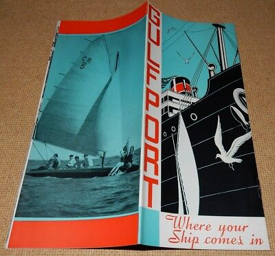 """1939 Brochure GULFPORT Mississippi """"Where Your Ship Comes In"""""""