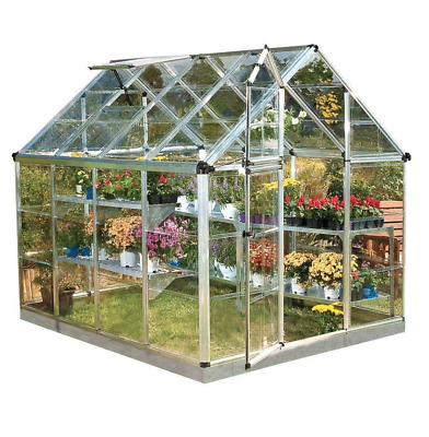 Snap and Grow 6 ft. x 8 ft. Silver Polycarbonate Greenhouse, Nursery