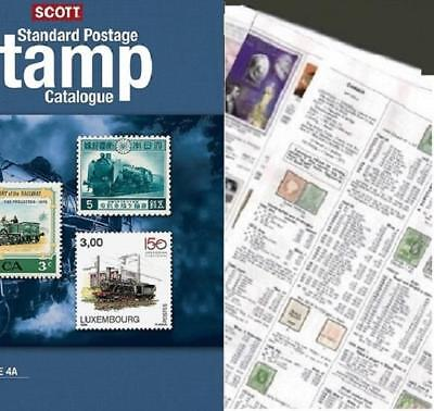 Luxembourg 2019 Scott Catalogue Pages 817-858