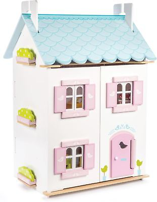 Le Toy Van DOLLHOUSES BLUE BIRD COTTAGE INC FURNITURE Wooden Dolls House BN