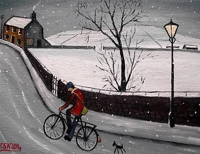 Nearly Home : Original Northern Art Oil Painting on Canvas  COSA
