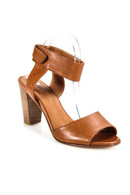 979b6dc8b514 Anthology Brown Leather Ankle Strap Sandals Heels SS16 Size 40 10 New  325  24889