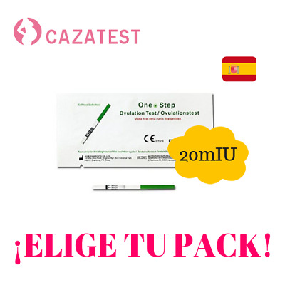 Test Ovulación ¡Packs Económicos! 20mIU TEST OVULACION