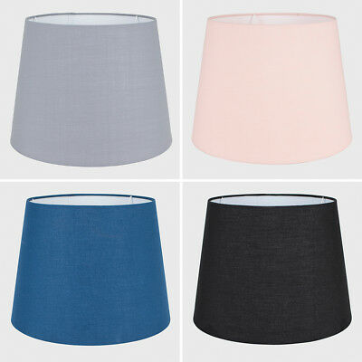 Modern Easy Fit Tapered Design Cotton Fabric Large Lamp Shades Home Lighting