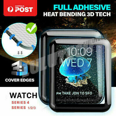 Tempered Glass Screen Protector Full Edge For iWatch Apple Watch Series 4 1/2/3