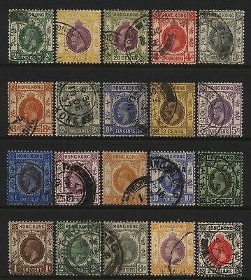 Hong Kong Collection 20 KGV Values (Unsorted wmks / Perfs) Used