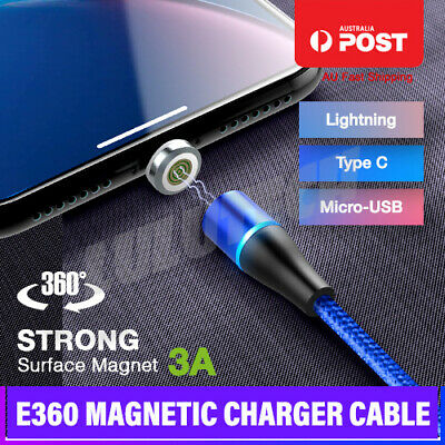 3 in 1 Multi USB Charger Charging Cable Cord Magnet iPhone TYPE C Android Micro