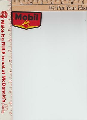 Mobil Gas 3 x 1-1/4 RED background with flying horse Patch