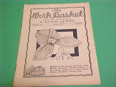 October 1947 The Workbasket Home & Needlecraft For Pleasure & Profit Booklet
