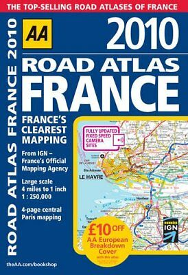 (Good)-Road Atlas France 2010 SP (AA Atlases and Maps) (Spiral-bound)-Automobile