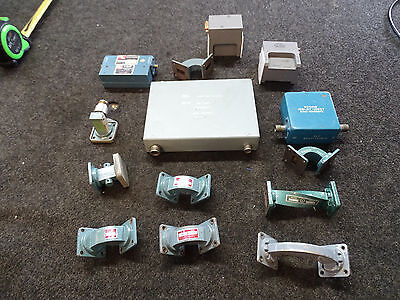 Lot of  14 Waveguide Narda Western Microwave REL HY5019 MD-205X4 Attenuator