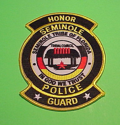 Seminole Tribe Of Florida  ( Honor Guard )  Tribal  Police Patch  Free Shipping!