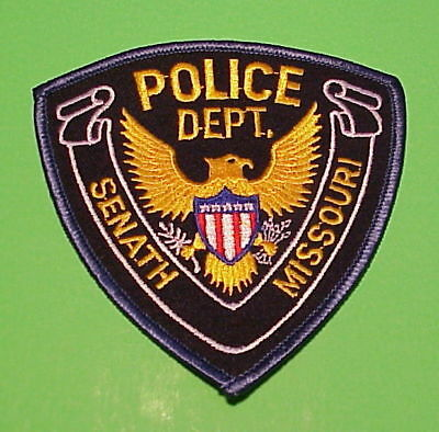 Senath  Missouri  Mo  ( Blue Border )  Police Patch   Free Shipping!!!