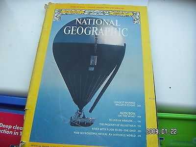 National Geographic February 1977 Longest Manned  Balloon Flight Issue
