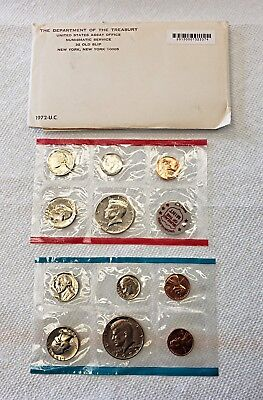 US 1972 Mint Uncirculated P and D Coin Set - Sealed in Original Packaging