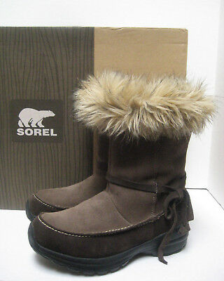 SOREL Womens NORTHERN LITE TALL Brown Suede Waterproof Insulated BOOTS ~  fits 7 2a3b9440d