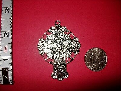 Rosicrucian (Rose) Cross Pewter Pendants Necklace Pendant