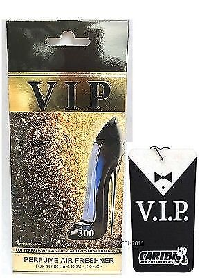 300 Air Freshener Car Caribi VIP Perfume smell as  Carolina Herrera Good Girl