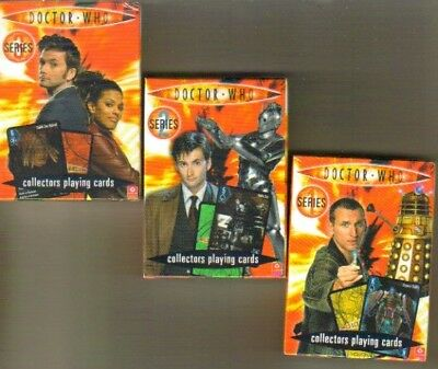 Unissued DR WHO Collectors playing Cards  Series 1,2 & 3
