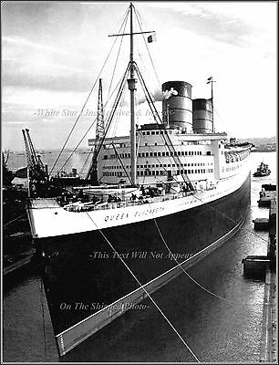 Photo: Grand View: The RMS Queen Elizabeth At Southampton, 1948