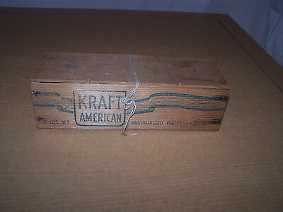 Vintage Kraft Ameriican Pasteurized Process Cheese Wooden Box