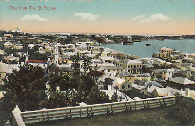 E-427 Bermuda View from the St. George Early Postcard