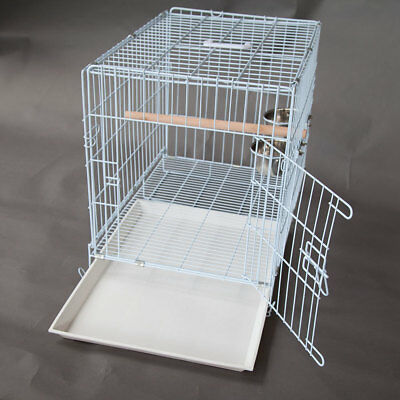 Collapsible Pet Carrier Travel Cage for Medium Bird Cockatoo 2.7cm Bar Space