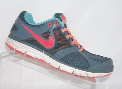 5e6ca7cadfd1 Nike women s Lunar Forever 2 dark blue pink lace up running sneaker shoe 8.5