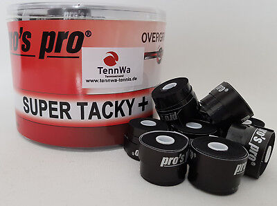 Tipp: 20er Pack Pros Pro Super Tacky Plus Griffband, schwarz, Overgrip 0,5mm
