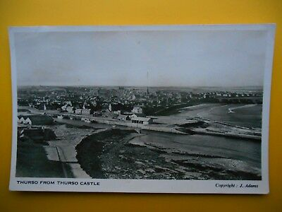 Harbour & Town From Castle THURSO Caithness RP 1954 Standard Size