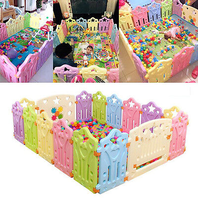 Kids Play Pen Baby Outdoor Indoor Game Yard Toddler Safety Folding Fence Random