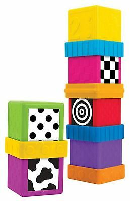 Sassy SHAPES AND NUMBERS SENSORY BLOCKS Baby Child Activity Toy BN