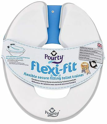 Pourty FLEXI-FIT TOILET TRAINER - GREY Baby Child Toilet Training BN