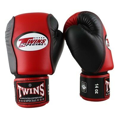 Twins BGVL 7 Red/Black. echt Leder, 12-16oz, Muay Thai, Kickboxen, K1, Boxen