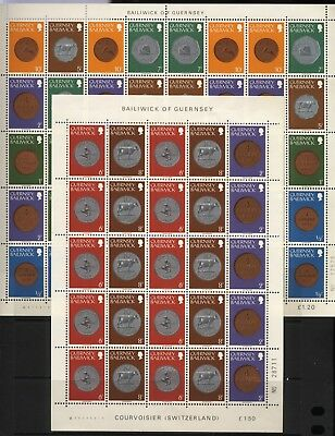 Guernsey Collection 4 Coins Mini Sheets Unmounted Mint